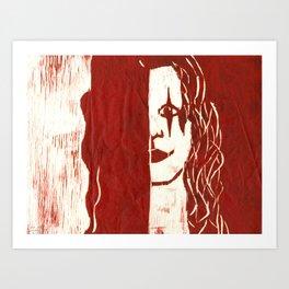 Brandon Lee Red Art Print