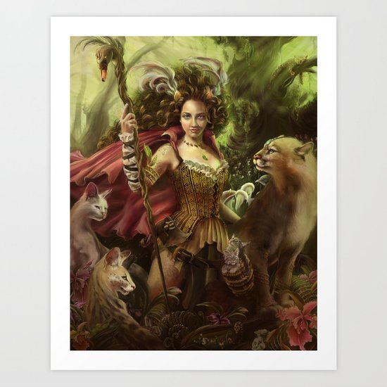 Jamie of the Jungle Art Print