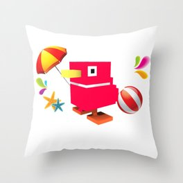 Duck Royale 3D - Game Paused Design Throw Pillow