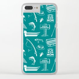 Gone Fishing // Teal Clear iPhone Case