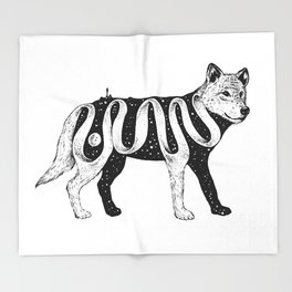 Lost in Its Own Existence (Wolf) Throw Blanket