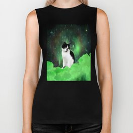 Gypsy Da Fleuky Cat and the Kitty Emerald Night Biker Tank