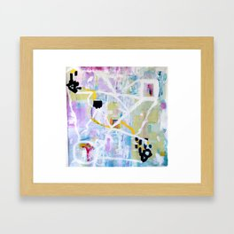 Colorful Abstract Painting Framed Art Print