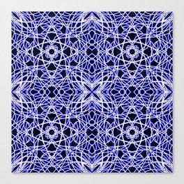 Blue Chaos 5 Canvas Print