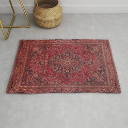 Antique Persian Red Rug Rug
