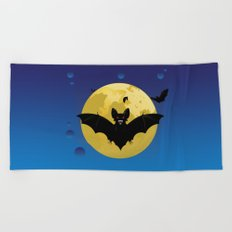 Halloween bats Beach Towel