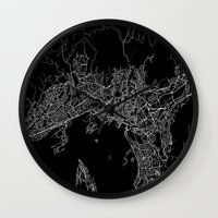 oslo Wall Clocks featuring Oslo by Line Line Lines