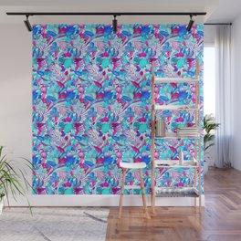 Blue Purple jungle Wall Mural