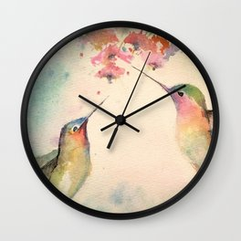 hummingbirds #4 Wall Clock
