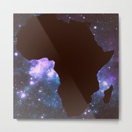 Galaxy Africa Continent Metal Print
