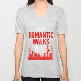Romantic Walks Cemetery Funeral Director Mortician Gift Unisex V-Neck
