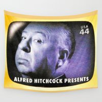 hitchcock Wall Tapestries featuring Alfred Hitchcock Presents by lanjee