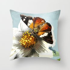 Butterfly on flower 12 Throw Pillow