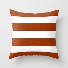 Mariniere marinière Brown Throw Pillow