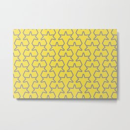 Tessellation Pattern 15 Abstract Stars Pantone 2021 Color Of The Year Illuminating Ultimate Gray Metal Print