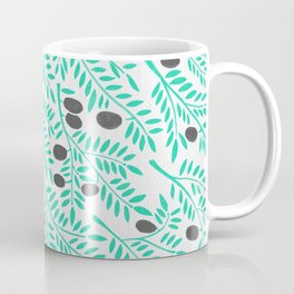 Olive Branches – Turquoise & Black Palette Coffee Mug