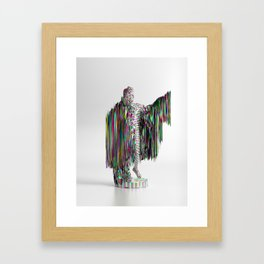 Apollo Glitched Framed Art Print