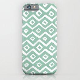 Zig Zag Mudcloth > Cool Mint iPhone Case