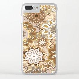 Floral boho mandala pattern Clear iPhone Case