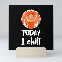 Funny Lazy Day or a Hot Finnish Sauna SPA design Mini Art Print