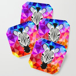 Zebra Dazzle Coaster