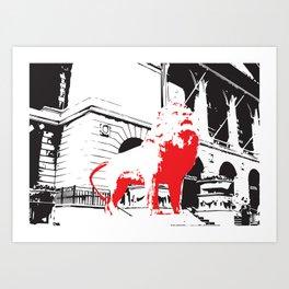 Art Institute of Chicago Lion Sculpture Art Print