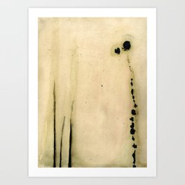 Abstraction botanique Art Print