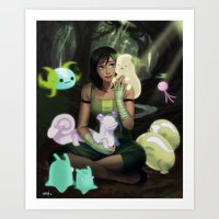 Korra and Spirits Art Print