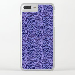 Ultraviolet watercolor leopard print Clear iPhone Case