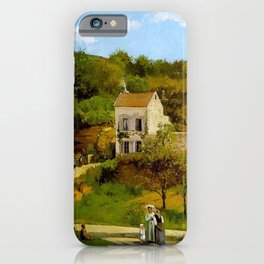 L Hermitage At Pontoise By Camille Pissarro | Reproduction | Impressionism Painter iPhone Case