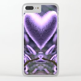 Sprouting Love (violet/green) Clear iPhone Case