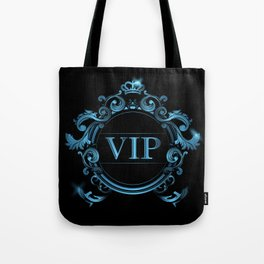 VIP in Blue and Black Tote Bag