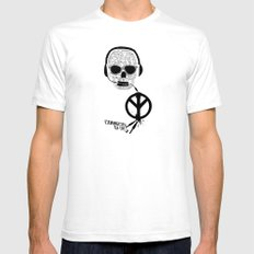 Love' skull -  a collaboration between Sam Guilhen and Gwenola de Muralt - Mens Fitted Tee White SMALL
