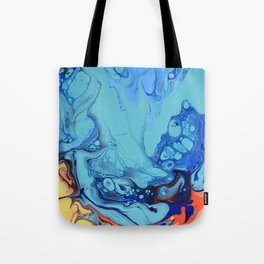 Celebration 2 Colorful Fluid Abstract Art Tote Bag