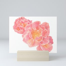 Three pink roses Mini Art Print