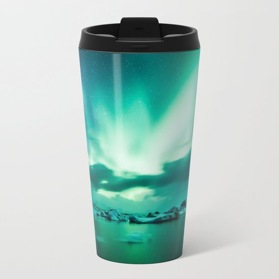 Aurora Borealis. Metal Travel Mug