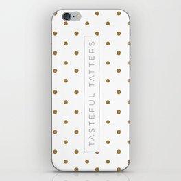 TT Gold Glitter Dots iPhone Skin