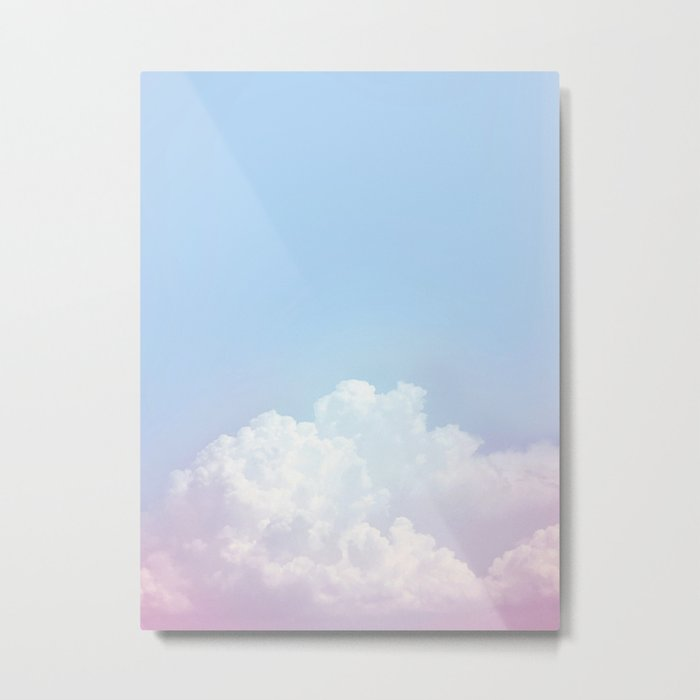 Dreamy Cotton Blue Sky Metal Print