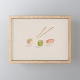 Running Sushi Framed Mini Art Print