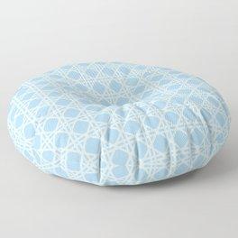 Cane Rattan Lattice in Blue Floor Pillow