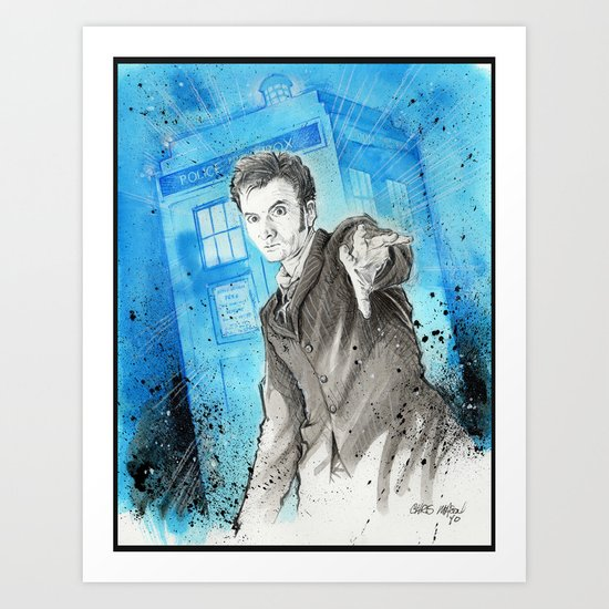 Doctor Who: The 10th Doctor Art Print