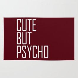 Cute But Psycho - Dark Red Rug