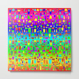 Shells & Rounds - Rainbow Projectiles Metal Print