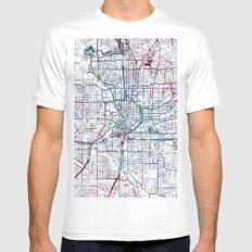 Atlanta map White Mens Fitted Tee MEDIUM