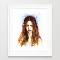 emma watson Framed Art Prints featuring Emma Watson by Creadoorm
