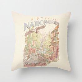 Adventure National Parks Throw Pillow