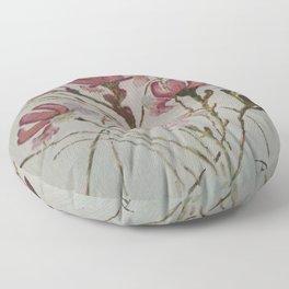 Beas Flowers  Floor Pillow