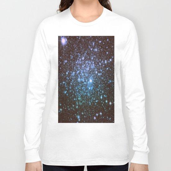 Winter Blues Galaxy Stars Long Sleeve T-shirt