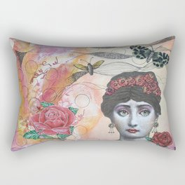 Young lady - Pink Rectangular Pillow