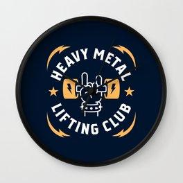 Heavy Metal Lifting Club (Yellow) Wall Clock